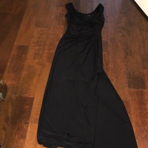 Black long fitted dress